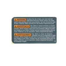 Bosch 1 601 118 A54 Warning Plate Image
