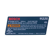 Bosch 1 611 110 X05 Reference Plate Image
