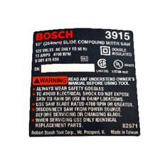 Bosch 2-610-991-995 NameplateImage