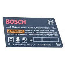 Bosch 2-610-994-077 NameplateImage
