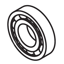 Makita 060-03003-41 BALL BEARING, G4300LImage