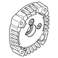 Makita 140619-4 GEAR HOUSING COVER CPL., DS4011Image