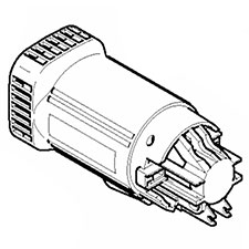 Makita 183560-8 MOTOR HOUSING,DA3010FImage