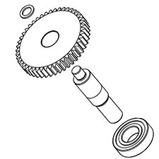 Milwaukee 14-73-0040 Pulley Gear AssemblyImage
