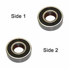 Superior Electric SE 607-2RS-D Replacement Ball Bearing - 2 x Seal, ID 7 mm x OD 19 mmx W 6 mm Bosch 2600905032, Dewalt 573119-02, 605040-02 (2pcs/pk)Image