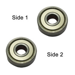 Superior Electric SE 608ZZ-D Replacement Ball Bearing - 2 x Shield, ID 8 mm x OD 22 mmx W 7 mm Makita 211031-6, 211033-2, Delta 1346630, Dewalt 330003-60, Porter Cable 843002, Metabo 143115180, Bosch 2610017348, Milwaukee 02-04-0820 (2pcs/pk)Image