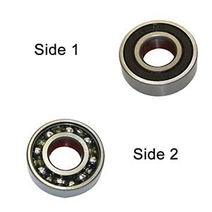Superior Electric SE 6202-RS-D Replacement Ball Bearing - Seal / Open, ID 15 mm x OD 35 mmx W 11 mm Hitachi 620-2VV, Dewalt 330003-75, Porter Cable 878064SV (2pcs/pk)Image