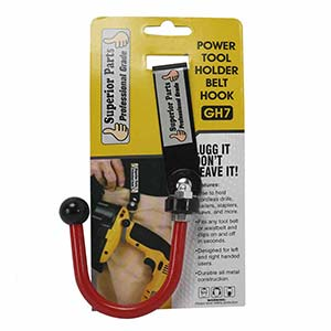 Superior GH7 Hook Drill / Power Tool Holder with Metal Clip Belt Replaces Bigg Lugg BL1Image
