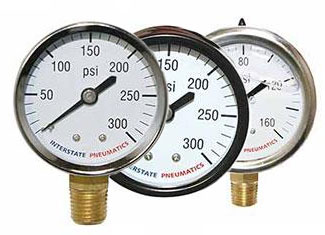 Interstate Pneumatics Pneumatic Tool Accessories Pressure Gauges