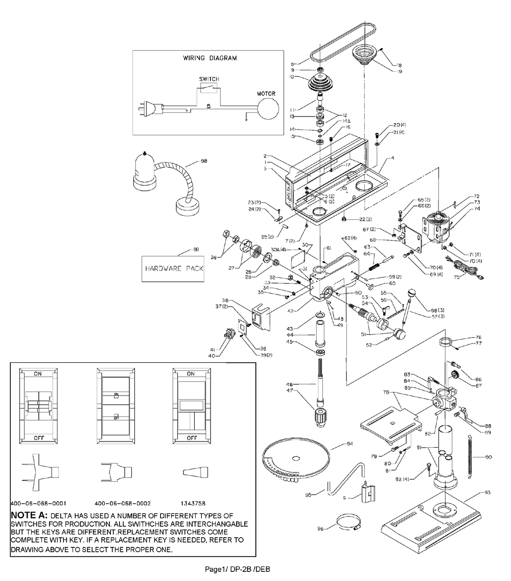 delta tools wiring diagram buy delta 11-990 type-1 replacement tool parts | delta 11 ... corner grounded delta transformer wiring diagram of a #3