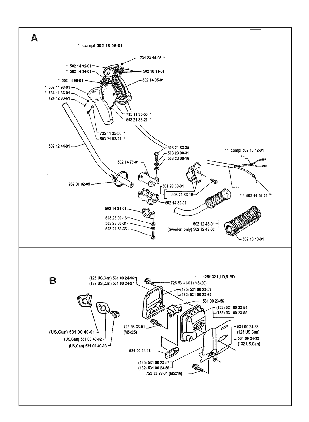 Husqvarna 125l Parts Diagram