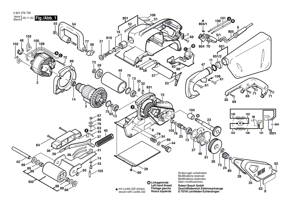 1276DVS bosch PB belt sander switch wiring diagram labeled diagram of a belt and Gang Belt Sander at nearapp.co