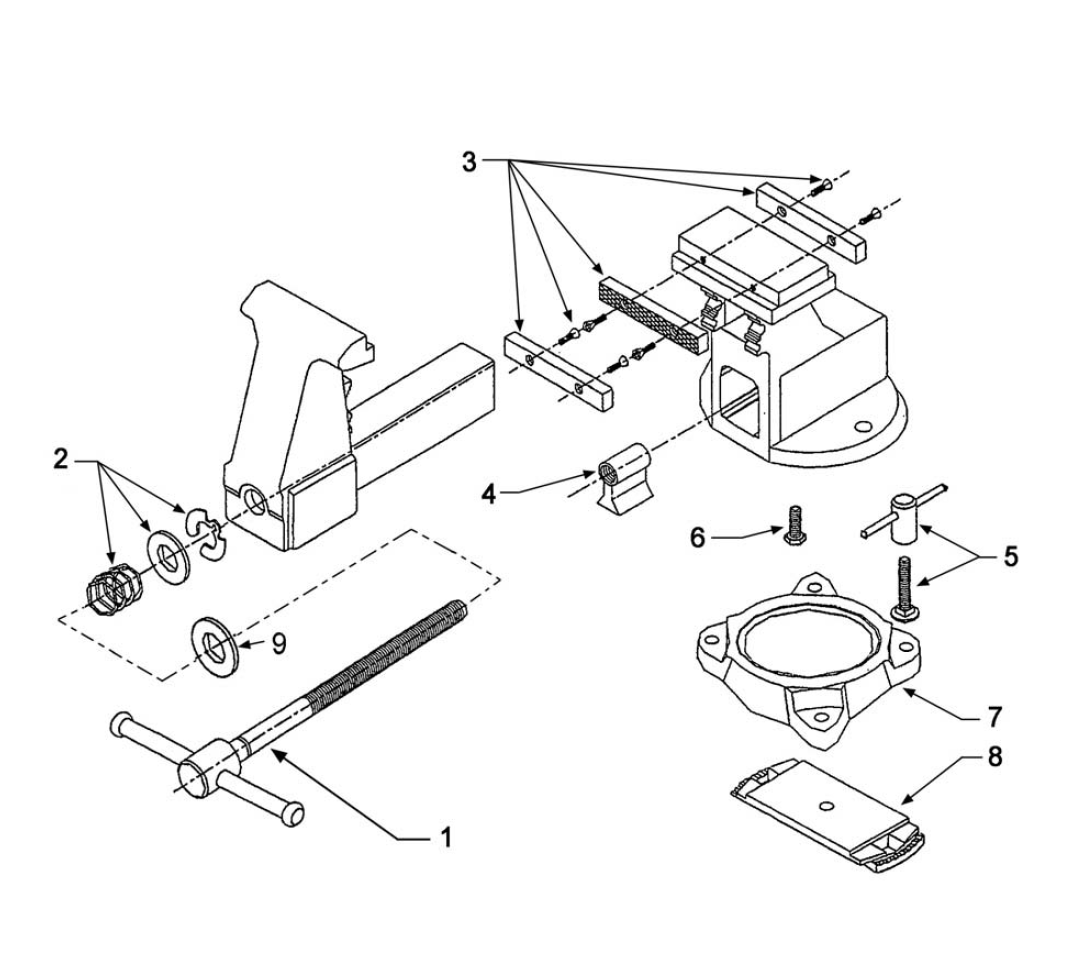 buy wilton 14600 4600 replacement tool parts wilton 14600 4600 rh toolpartspro com wilton bullet vise parts diagram Wilton Bench Vise Parts