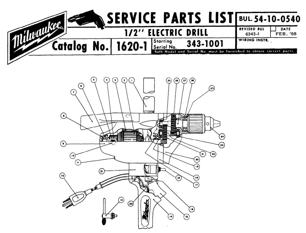 Milwaukee Tools Wiring Diagram