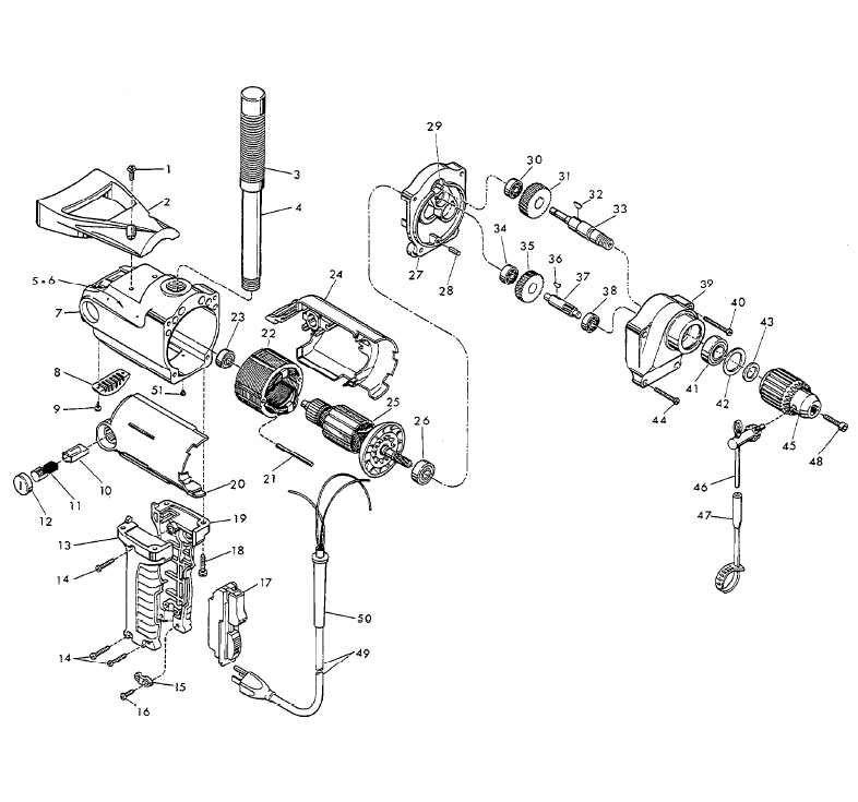 1630 1 Milwaukee PB buy milwaukee 1630 1 1 2 inch compact replacement tool parts milwaukee hole hawg wiring diagram at bakdesigns.co
