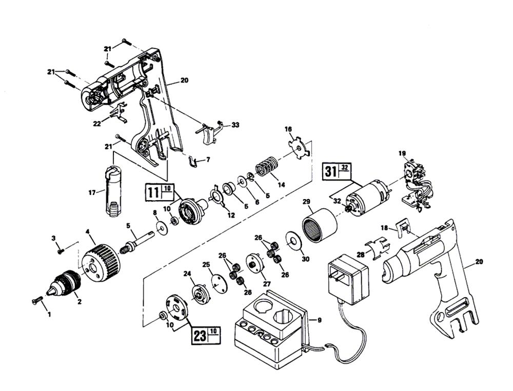 Skil Parts 1619X00090 Chuck