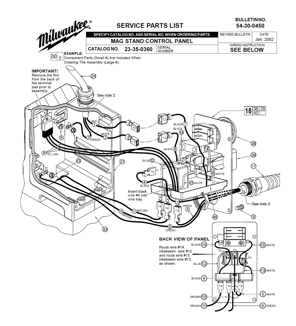 milwaukee 23-35-0360 parts schematic
