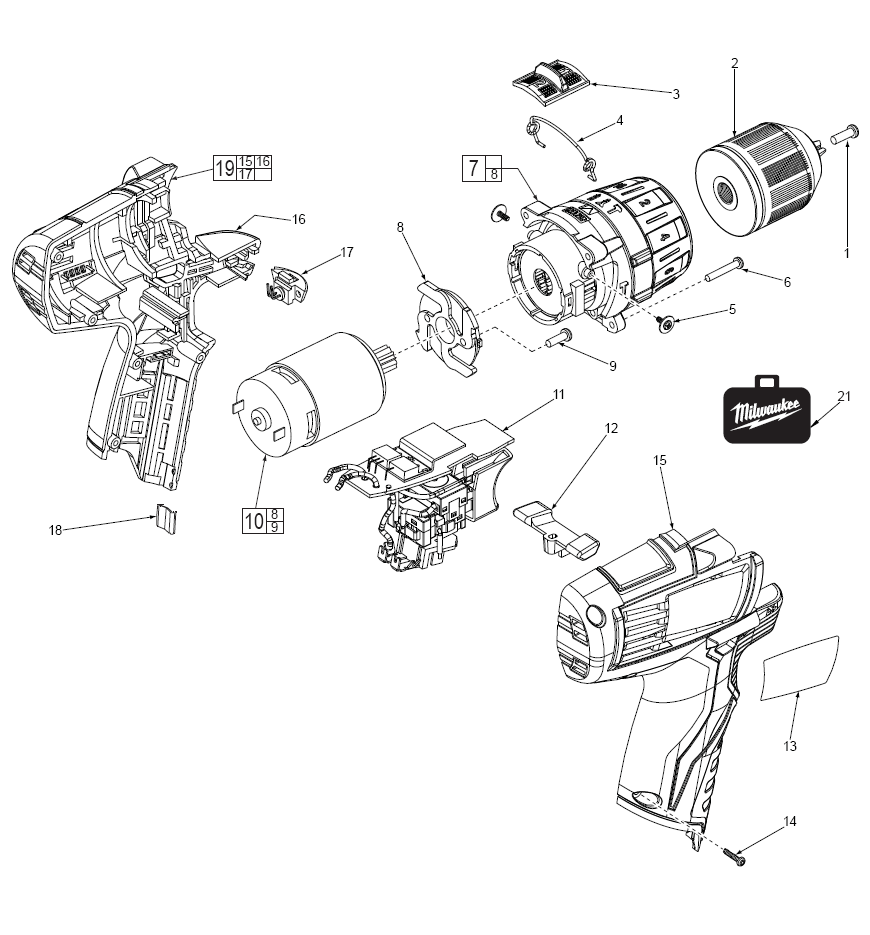 Buy Milwaukee 2411 20 M12 Cordless 3 8 Inch Driver Bare Tool Wilton D6 Parts List And Diagram Ereplacementpartscom Schematic
