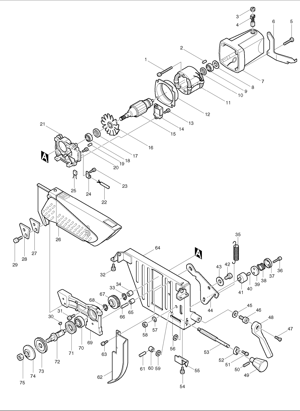 makita miter saw switch wiring diagram makita power saw