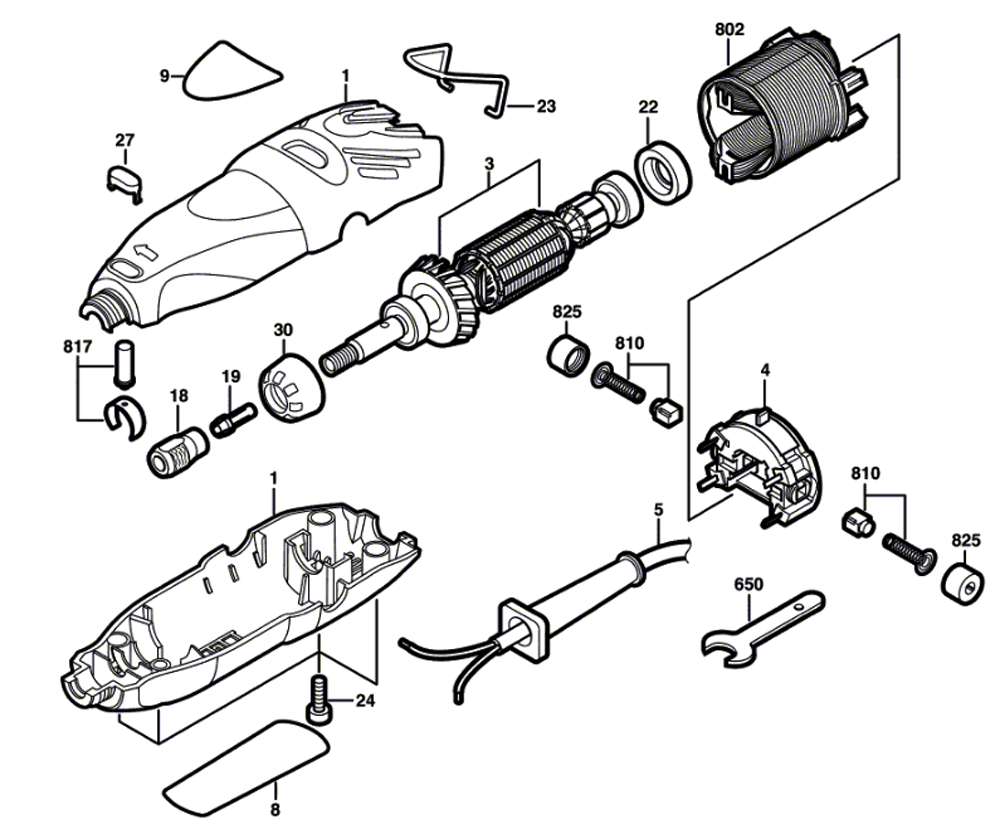 dremel 300 spare parts list