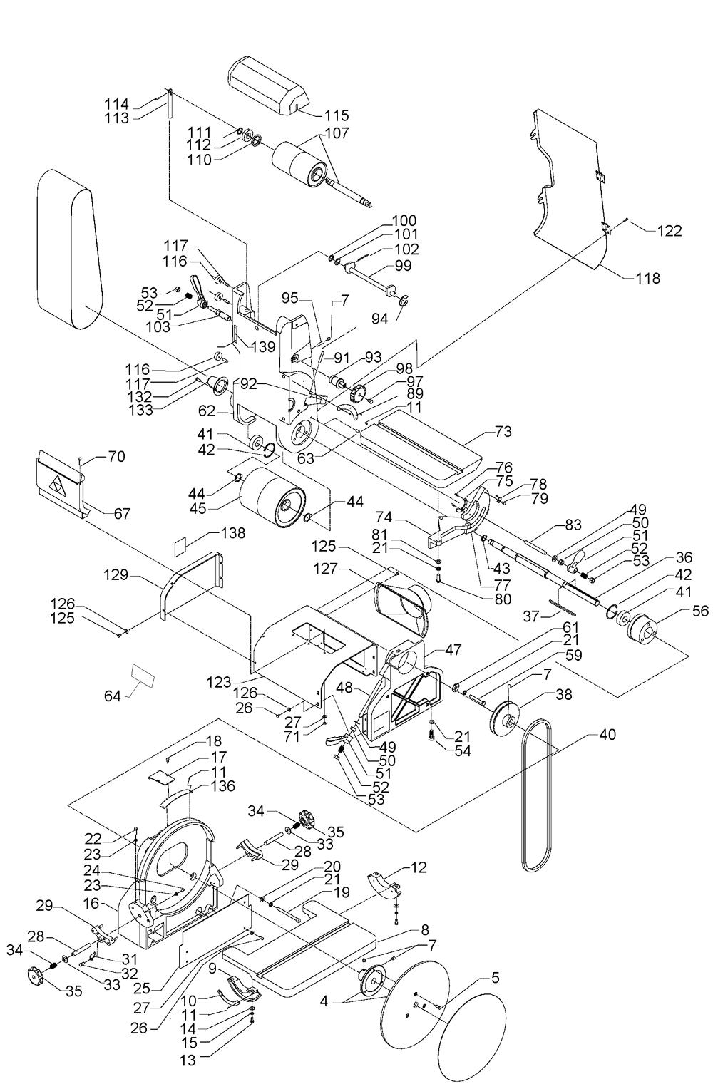 belt sander parts diagram. delta 31-300 type-1 parts schematic belt sander diagram