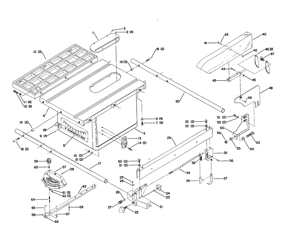 hitachi table saw wiring diagram vintage gibson sg wiring