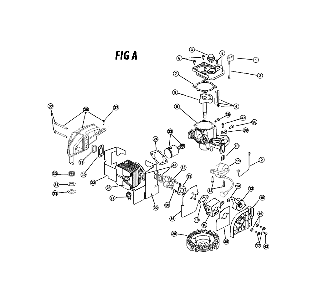 28 ryobi blower parts diagram