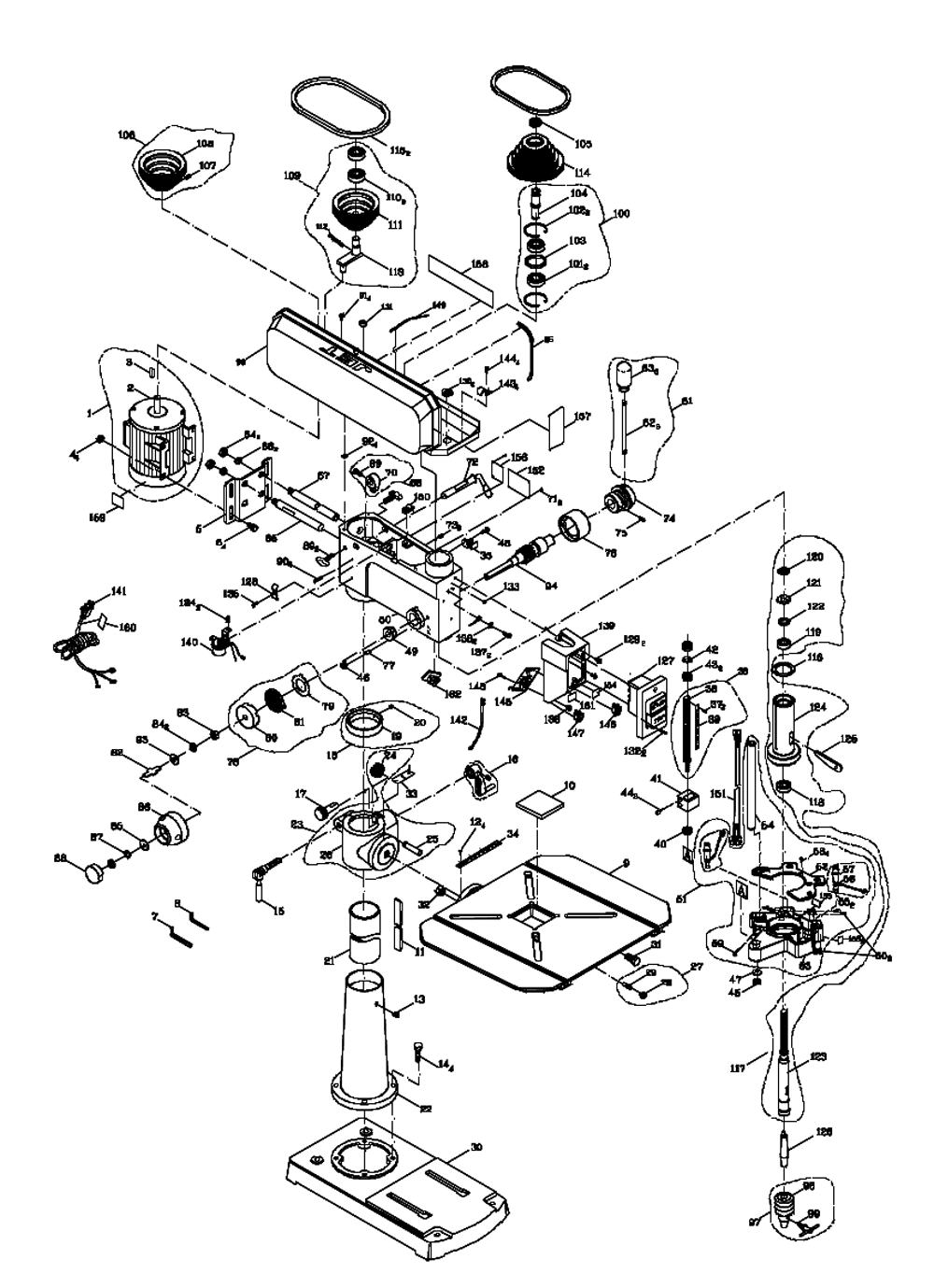 Drill Press Diagram Wiring Diagrams Buy Jet 354173 Jdp 17dx 17 Inch Replacement Tool Parts Delta