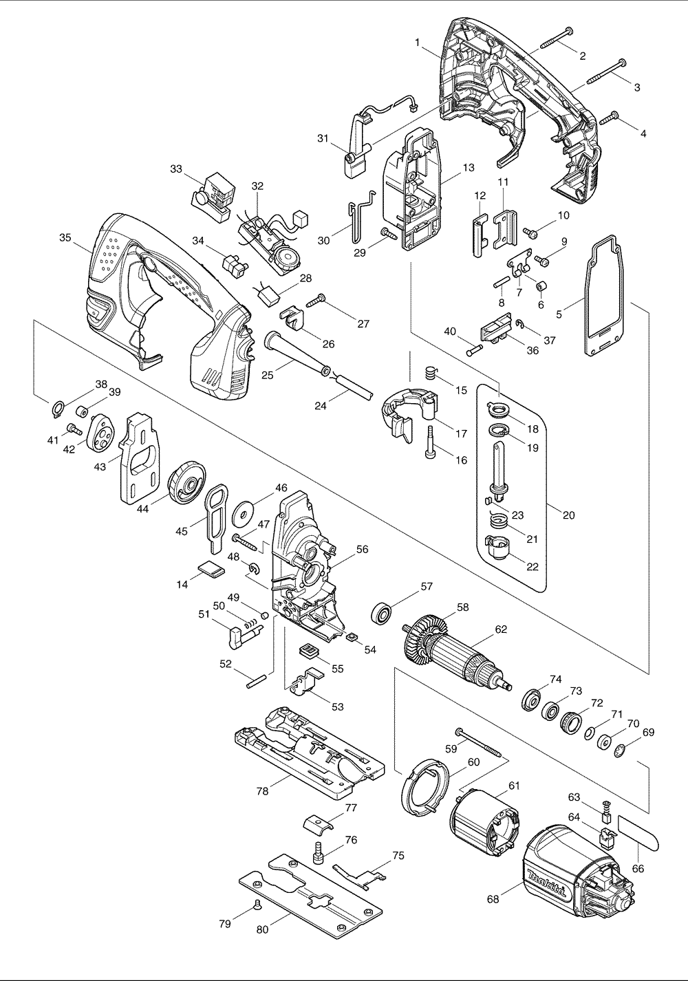 4350FCT Makita PB makita hr2455 wiring diagram conventional fire alarm wiring diagram Basic Electrical Wiring Diagrams at honlapkeszites.co