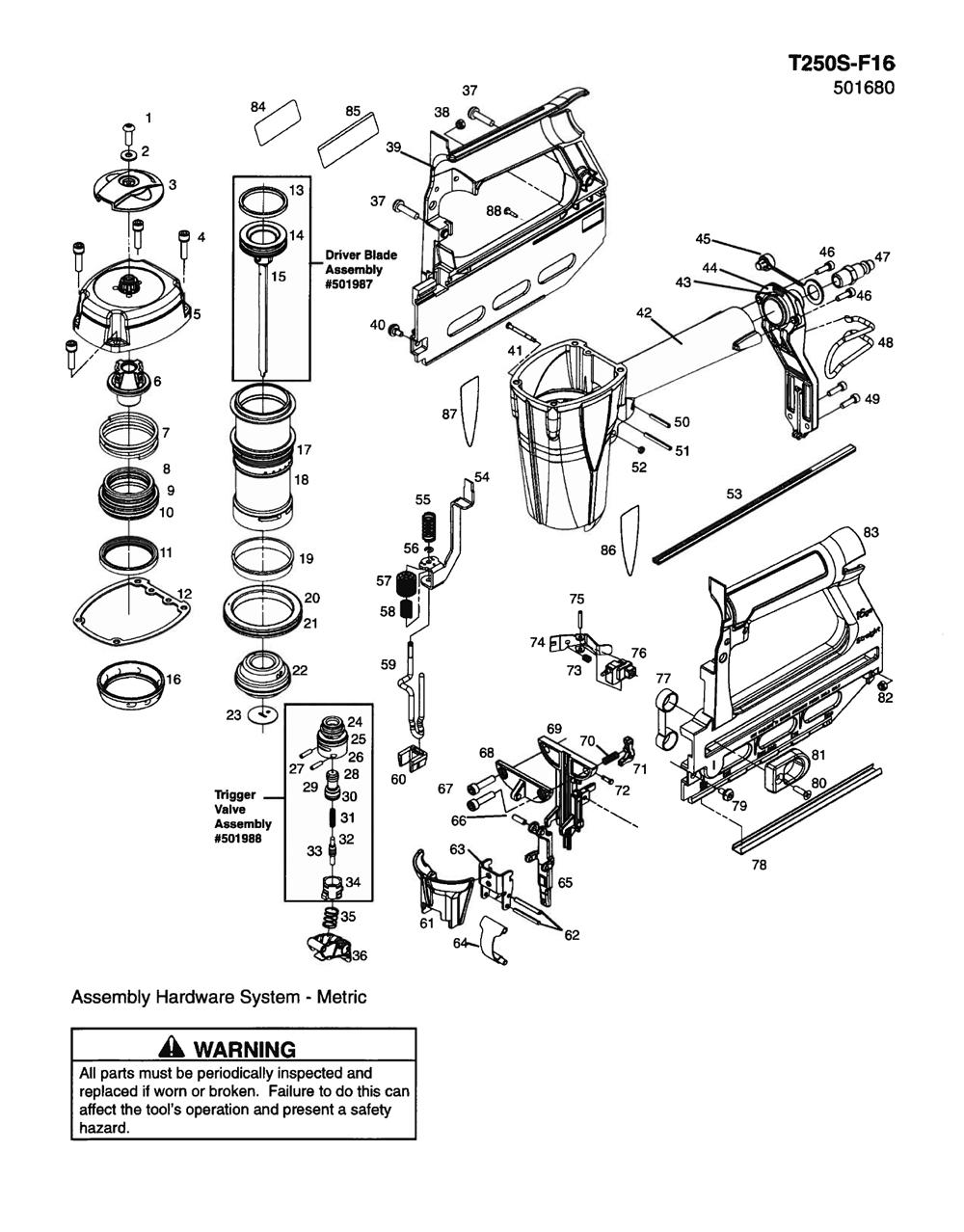 Paslode Nail Gun Parts Diagram - Electrical Work Wiring Diagram •