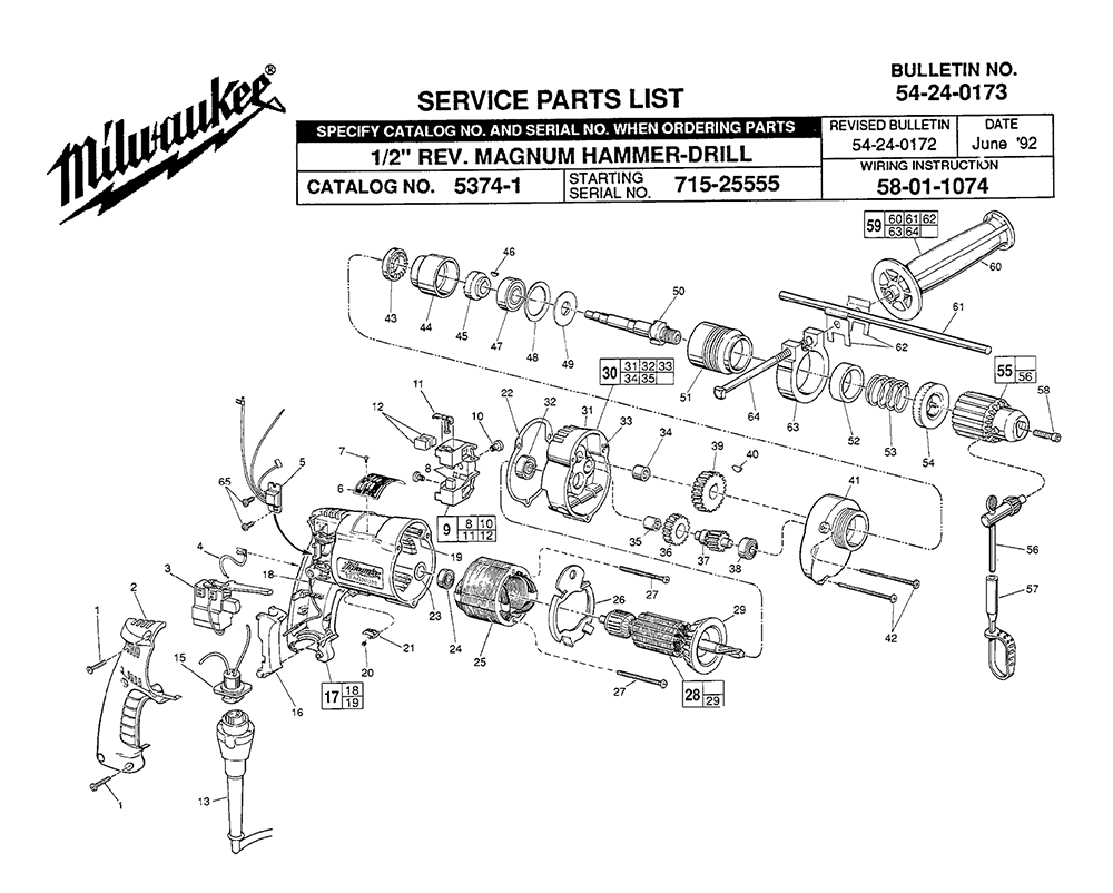Milwaukee Sawzall Parts Diagram