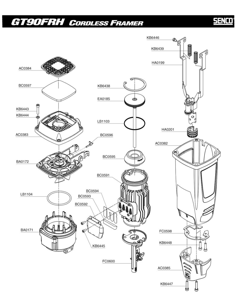 Senco BA0171 Combustion Chamber