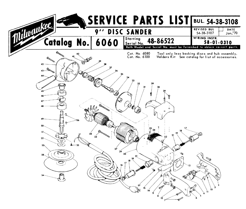 Buy Milwaukee 6060 48 86522 Replacement Tool Parts Chicago 7 Polisher Wire Diagram Fig 0