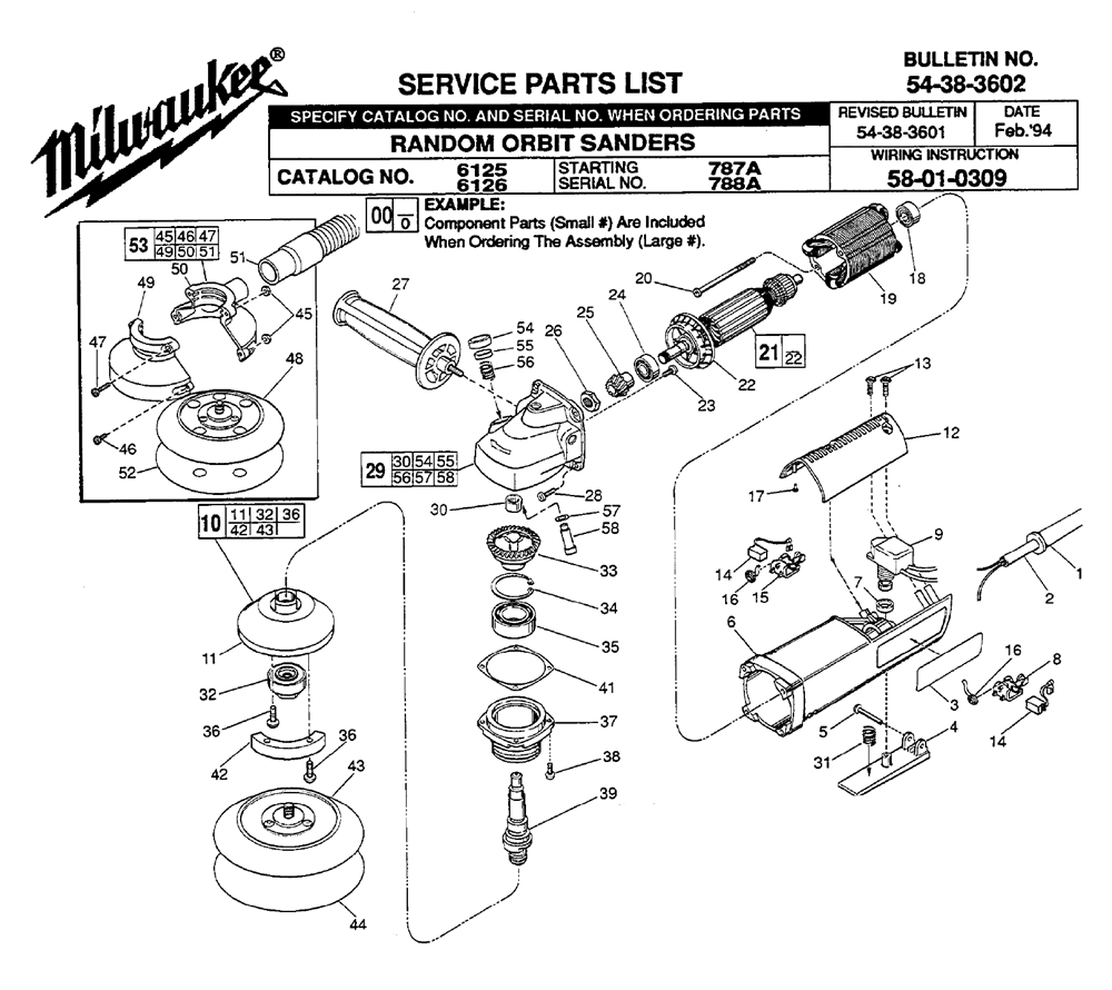 Milwaukee Grinder Switch Wiring Diagram Worksheet And Drill Buy 6125 787a Replacement Tool Parts Rh Toolpartspro Com 12v 4 Way