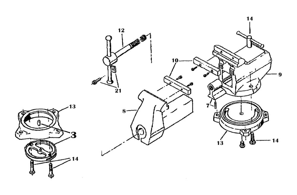 Wilton Vise Parts >> Buy Wilton 633 1 2 Replacement Tool Parts Wilton 633 1 2 A Href