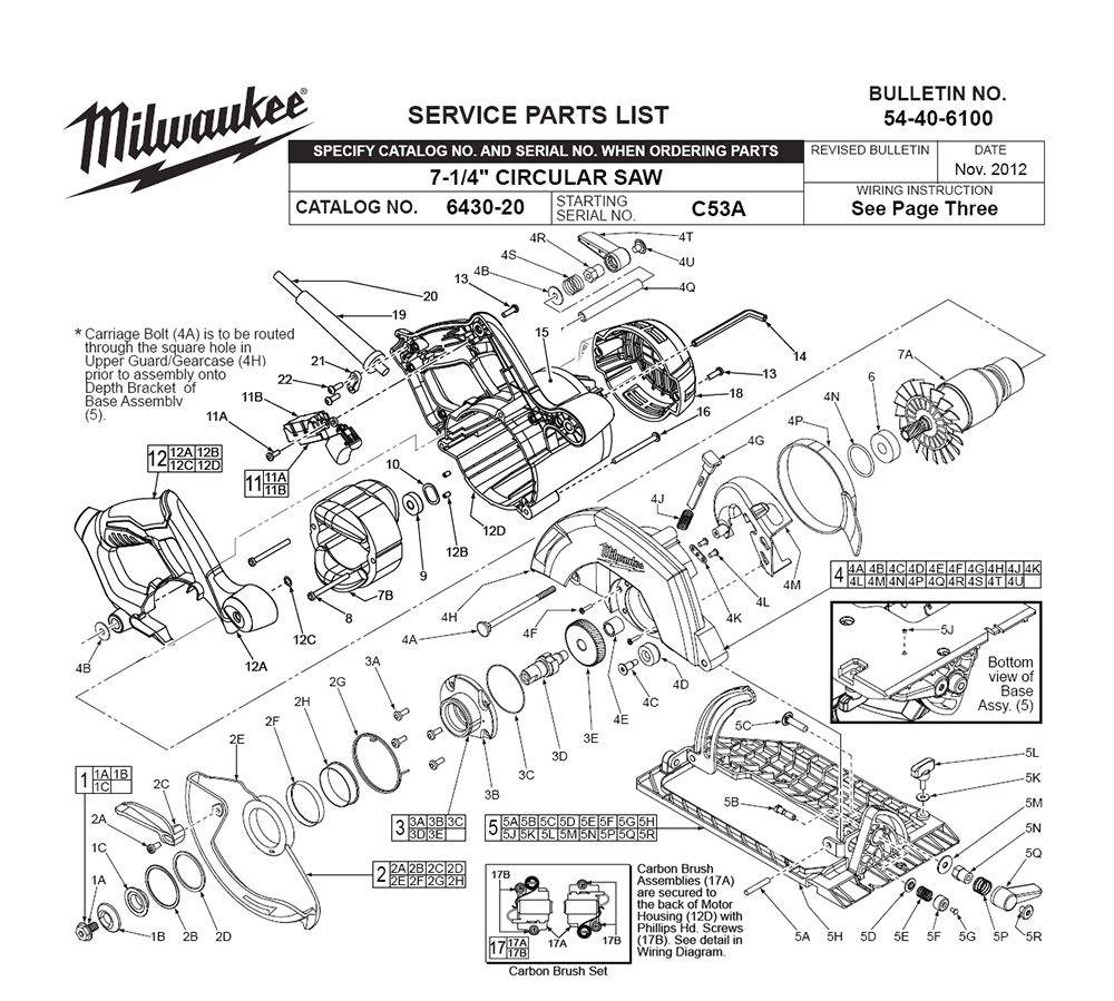 Buy Milwaukee 6430 20 C53a Replacement Tool Parts Wilton 846 List And Diagram Ereplacementpartscom Fig 0