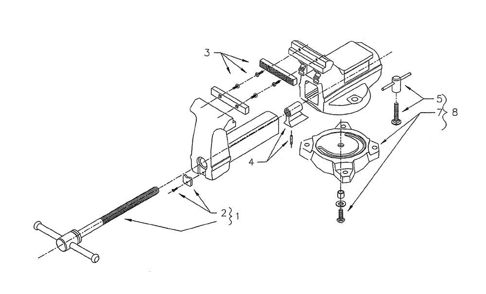 Wilton Vise Parts >> Replacement Tool Parts Wilton 644 111217 Vise Parts Diagram Wiring