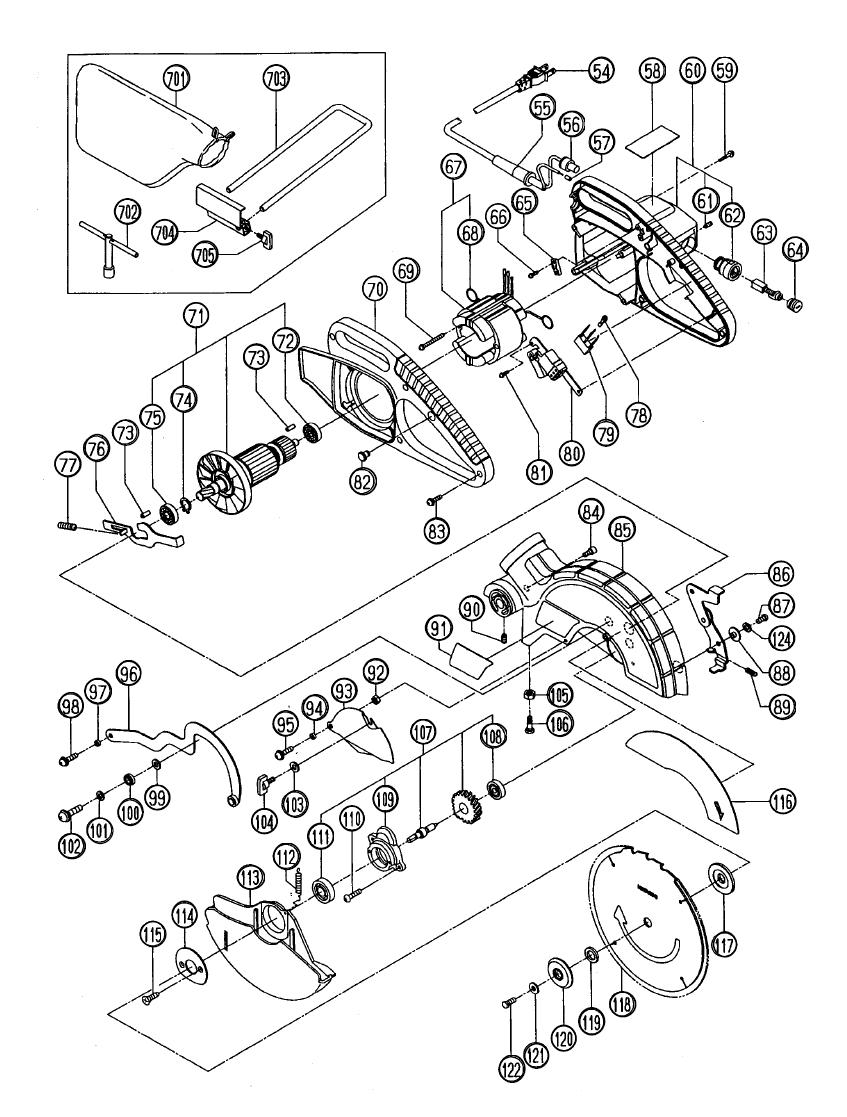Hitachi 312488 Clamp Lever C10FCB//FSH//FS Replacement Part