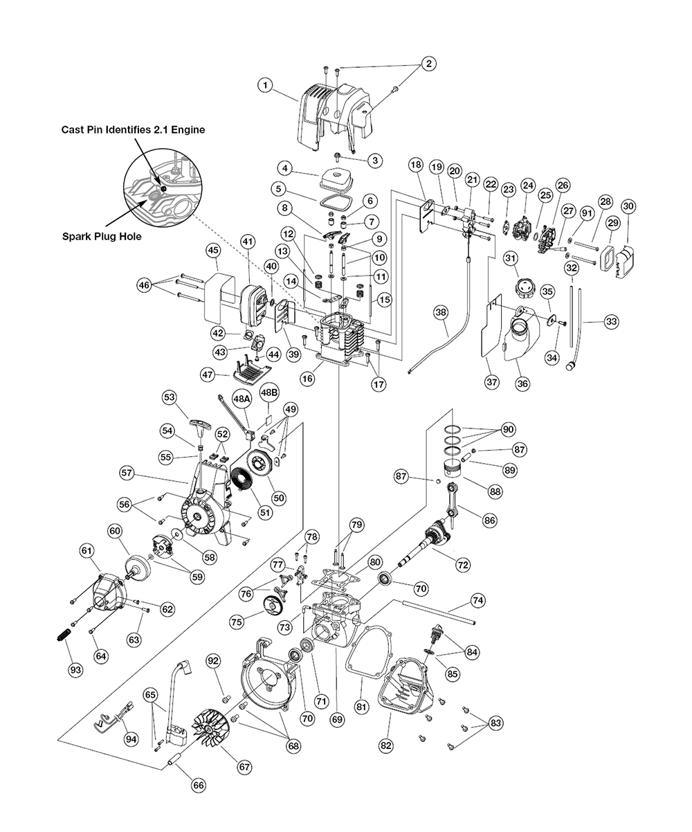 Buy Ryobi 875r 41bd875a034 Replacement Tool Parts Engine Diagram Fig 0
