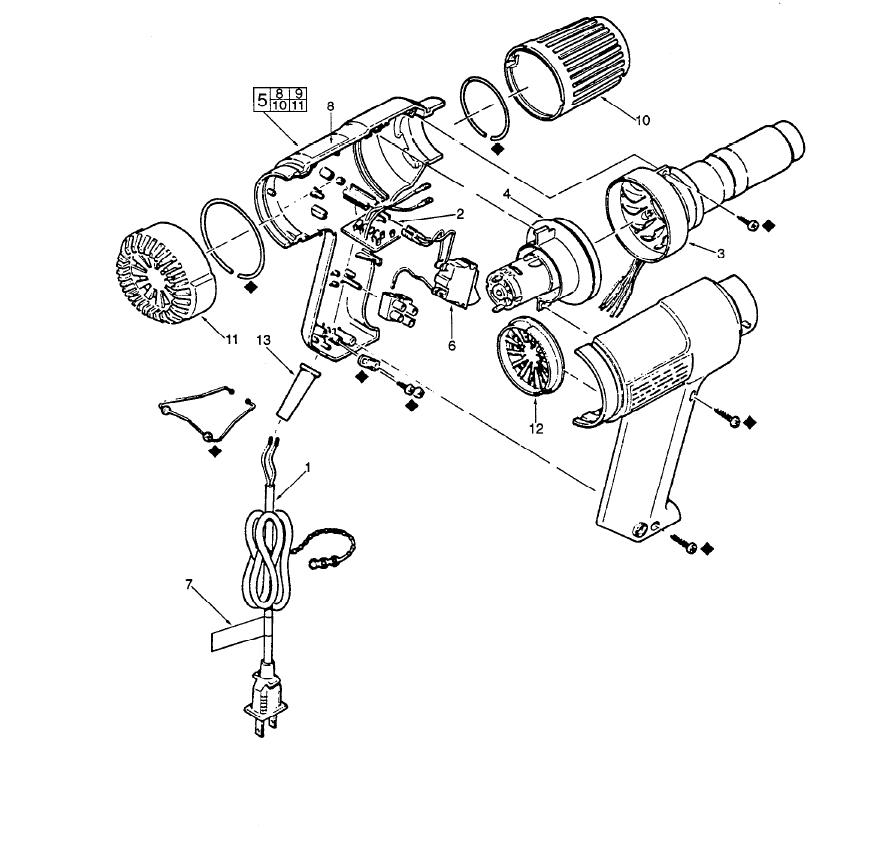 Mikwaukee Wiring Diagram Heat Gun. buy milwaukee 8988 20 199b replacement  tool parts. buy milwaukee 8977 20 variable temperature replacement. buy  milwaukee 8985 731a replacement tool parts. buy milwaukee 8988 20 variable2002-acura-tl-radio.info