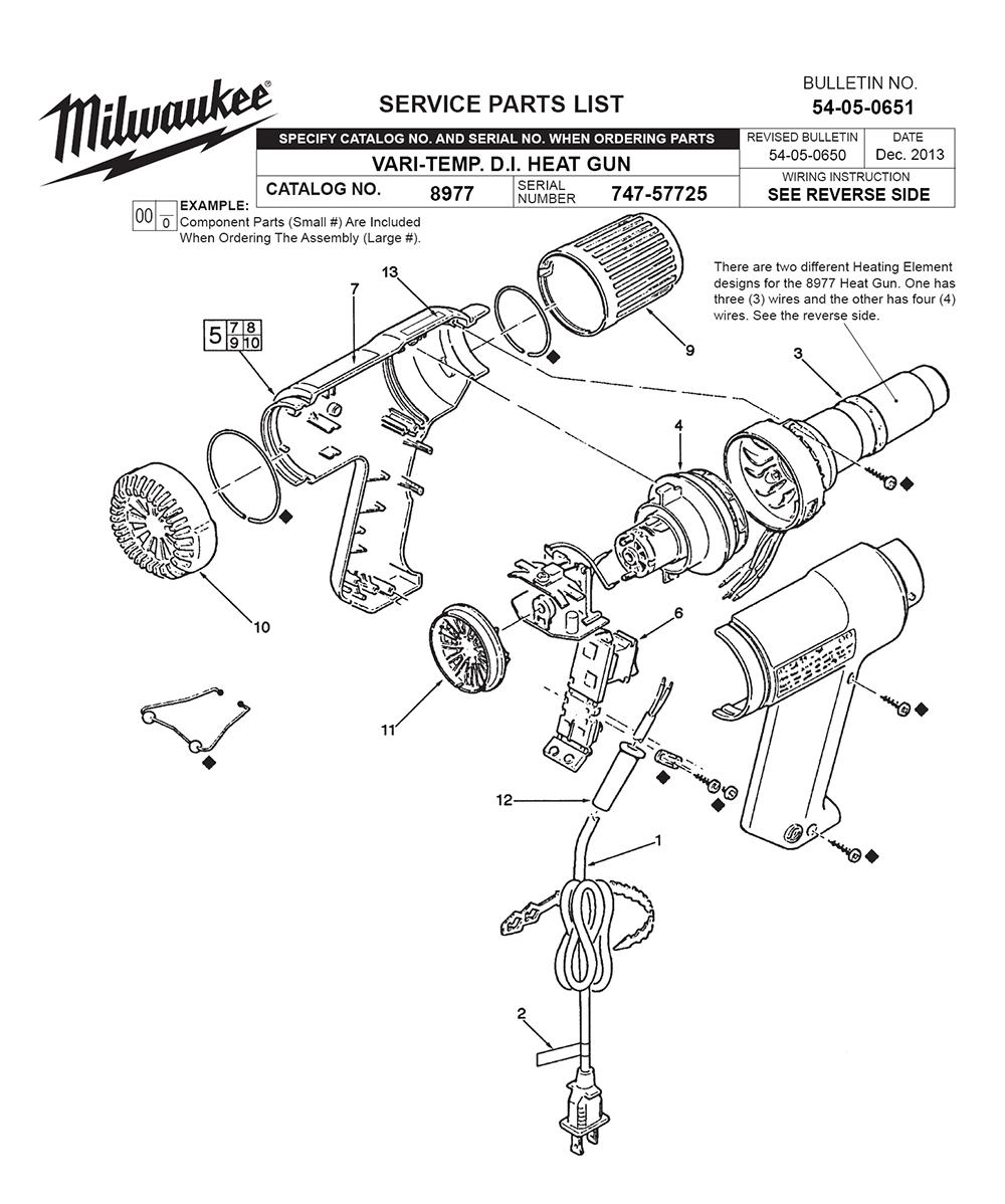 buy milwaukee 8977 747 57725 replacement tool parts milwaukee rh toolpartspro com