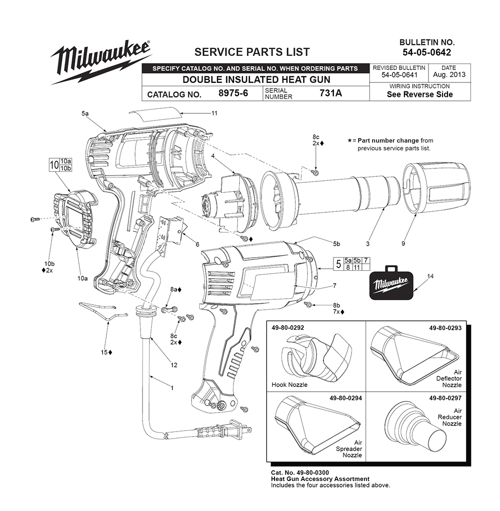 buy milwaukee 8985 (731a) replacement tool parts milwaukee 8985  milwaukee 8985 (731a) parts schematic