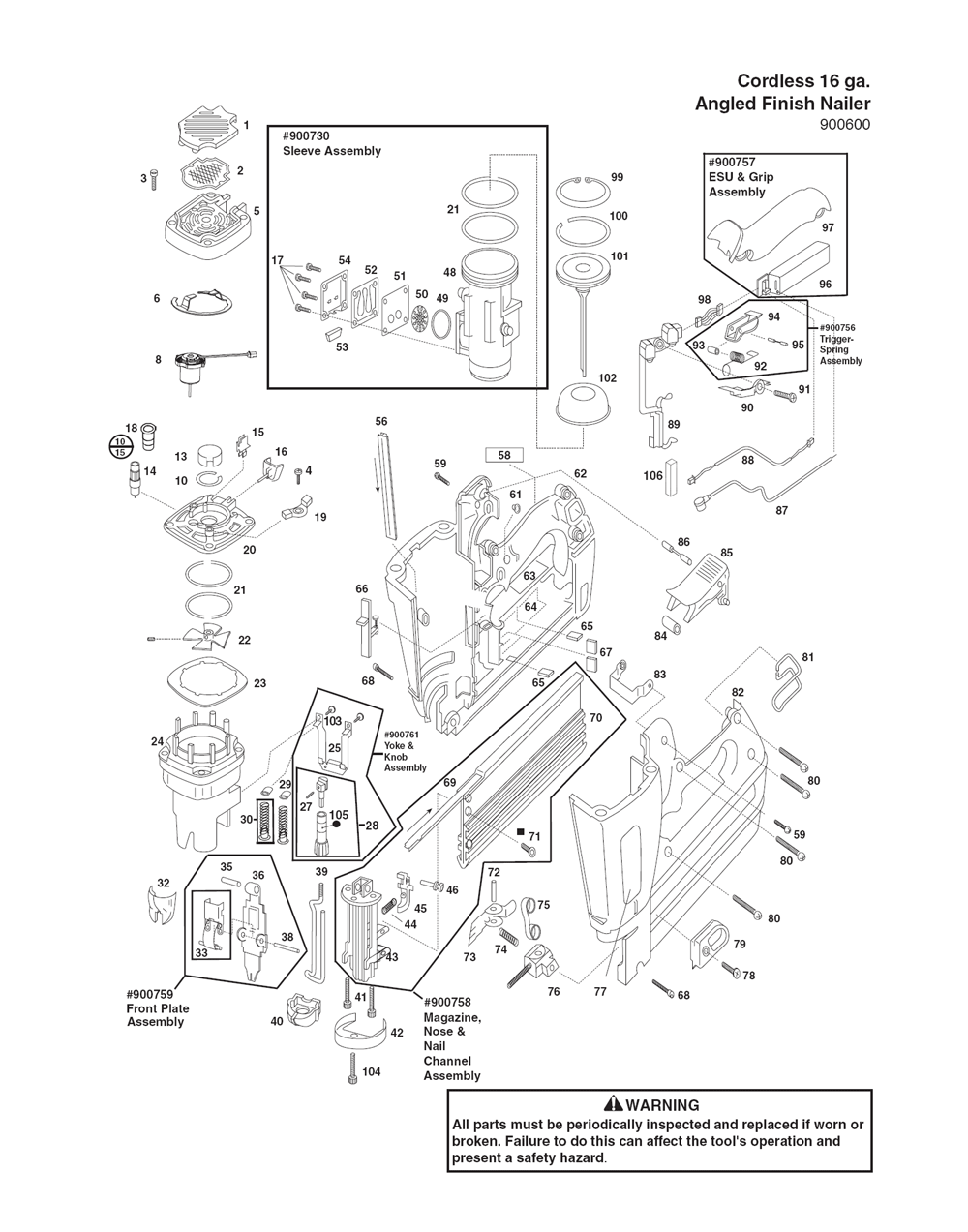 Paslode Im250a Parts Diagram - Introduction To Electrical Wiring ...