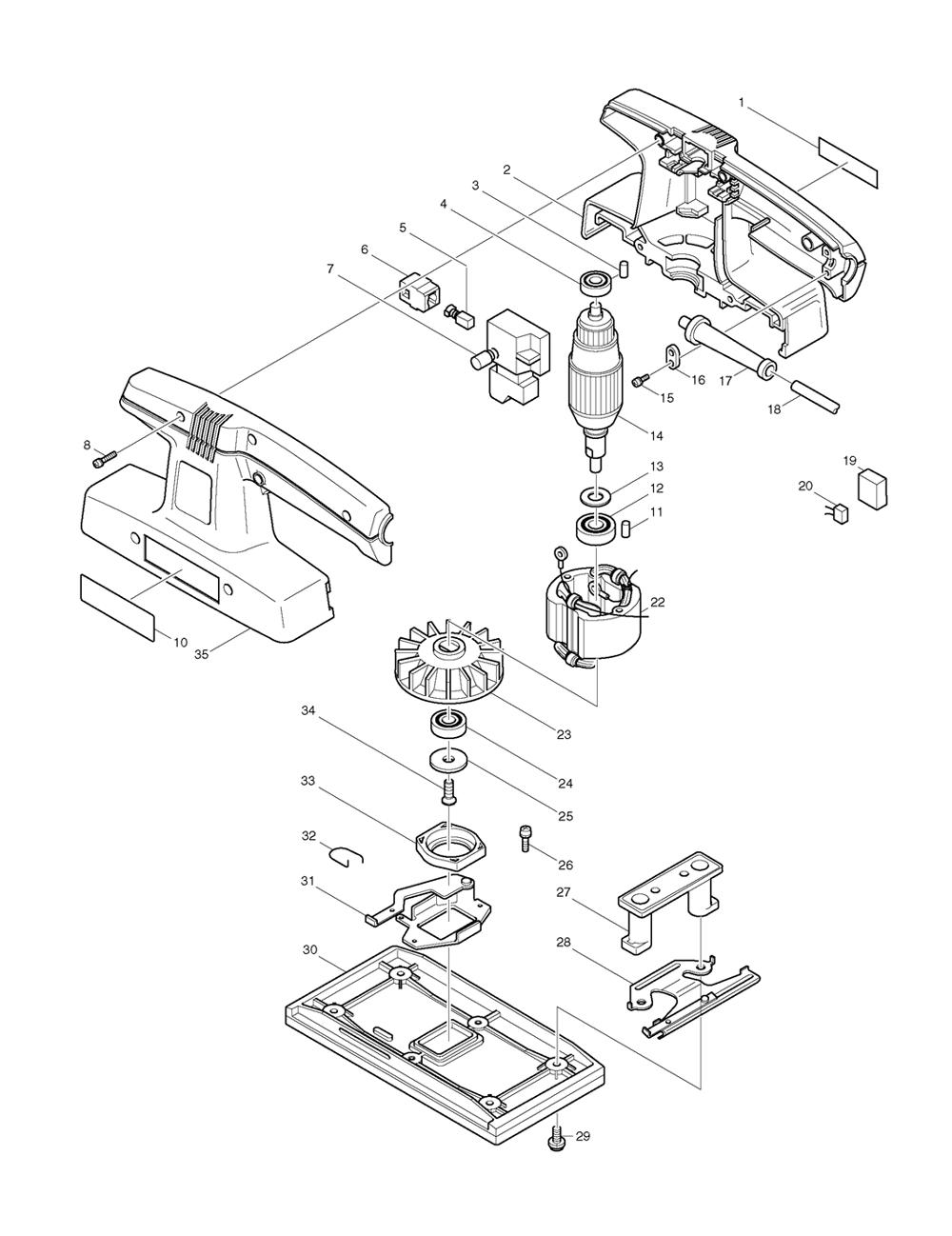 buy makita 9035n replacement tool parts
