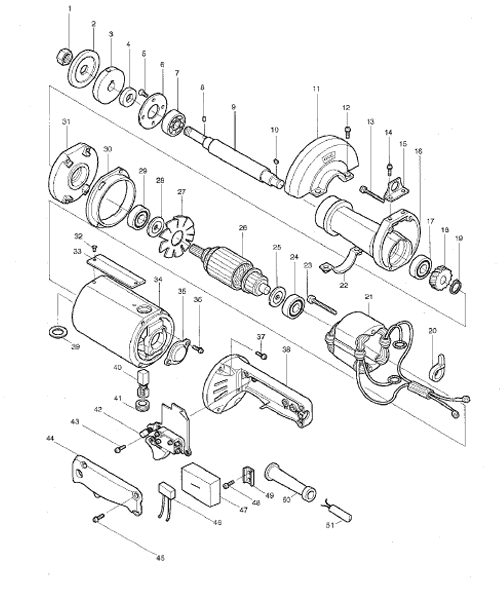 Buy Makita 9105 5 Straight Replacement Tool Parts A Wilton 846 List And Diagram Ereplacementpartscom Schematic