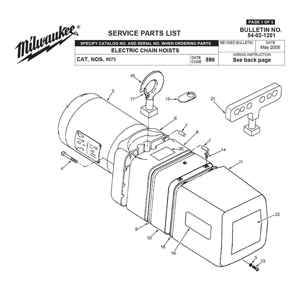 Buy Milwaukee 9573 598 Replacement Tool Parts Milwaukee 9573