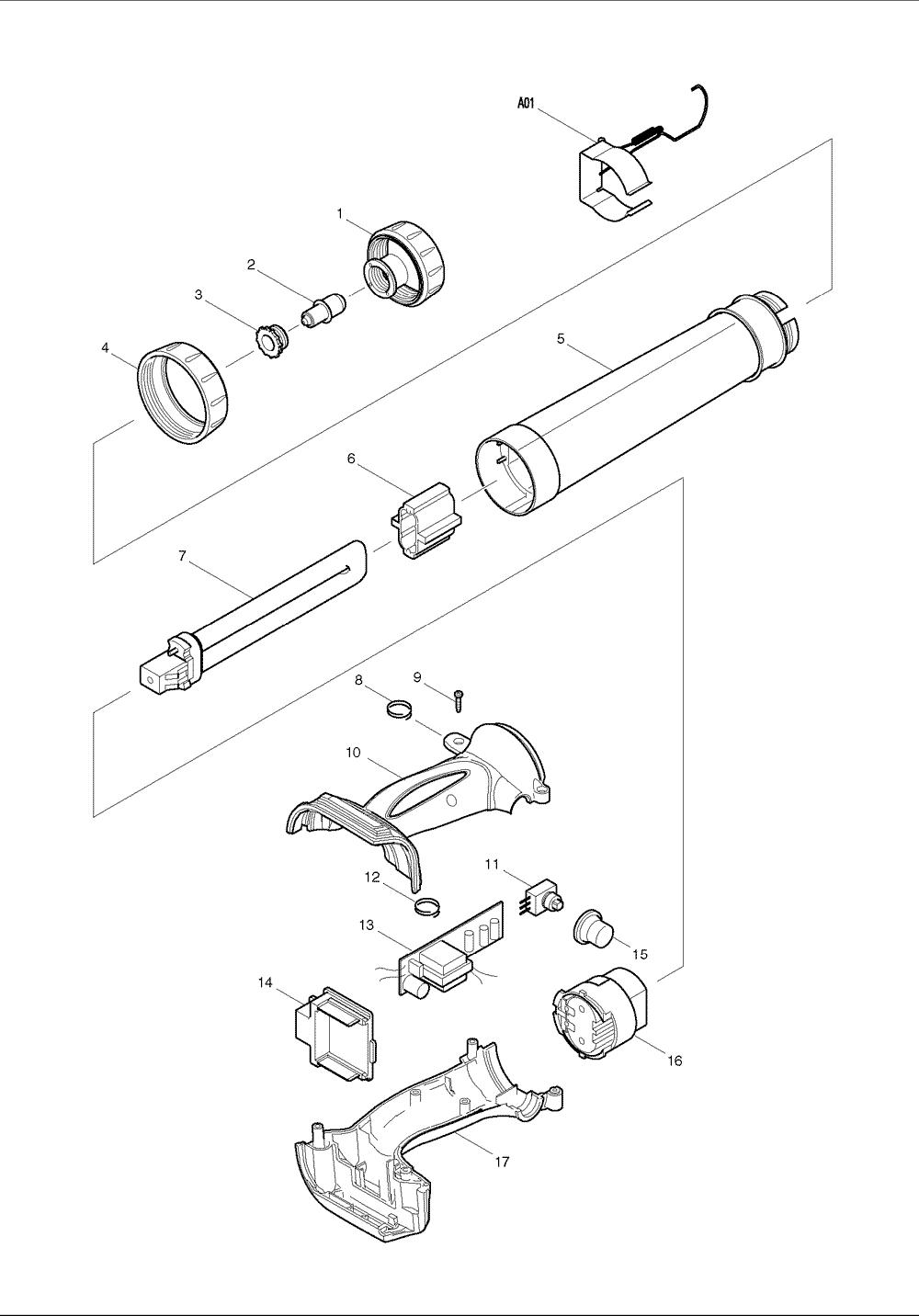 makita bml184 parts schematic