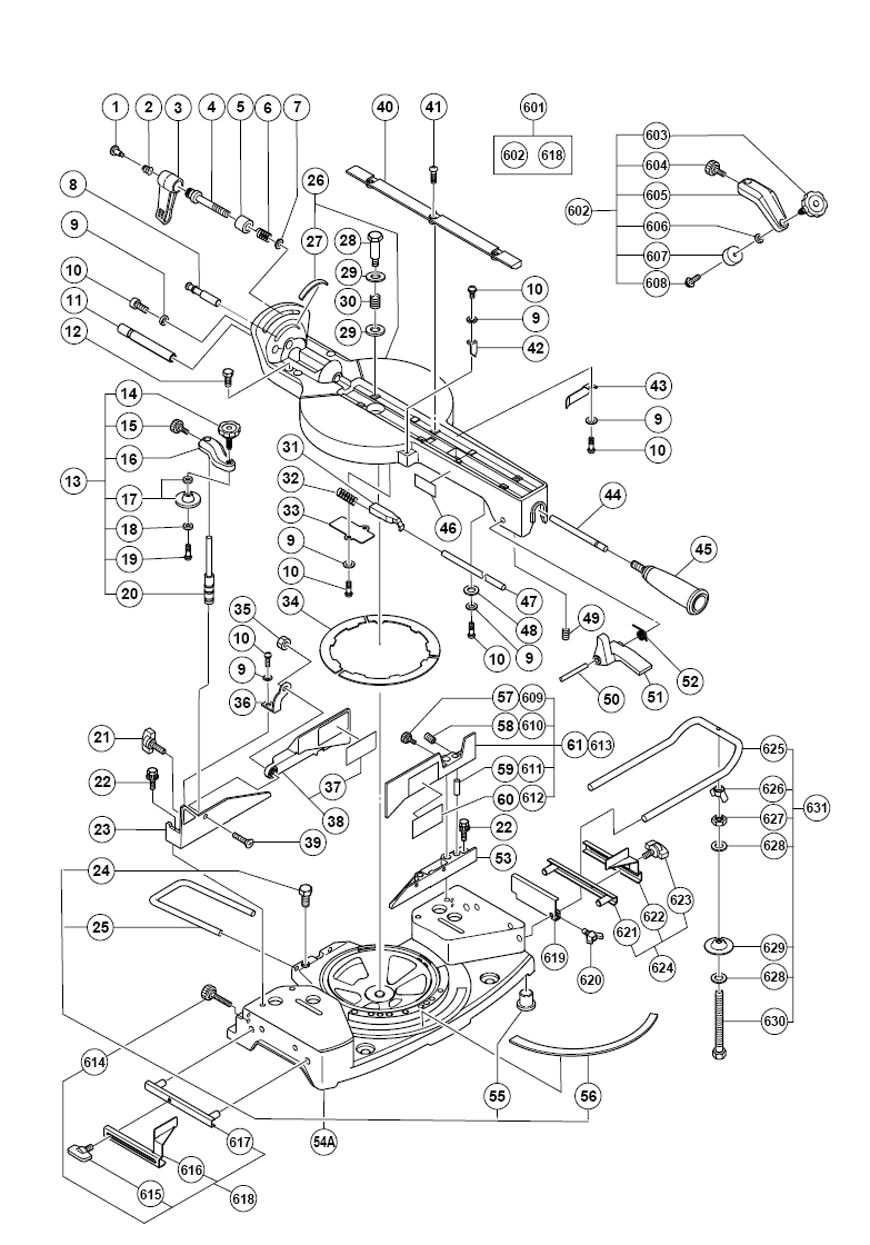 C10FSH hitachi PB delta 10 compound miter saw 36 220 parts wiring diagrams wiring  at creativeand.co