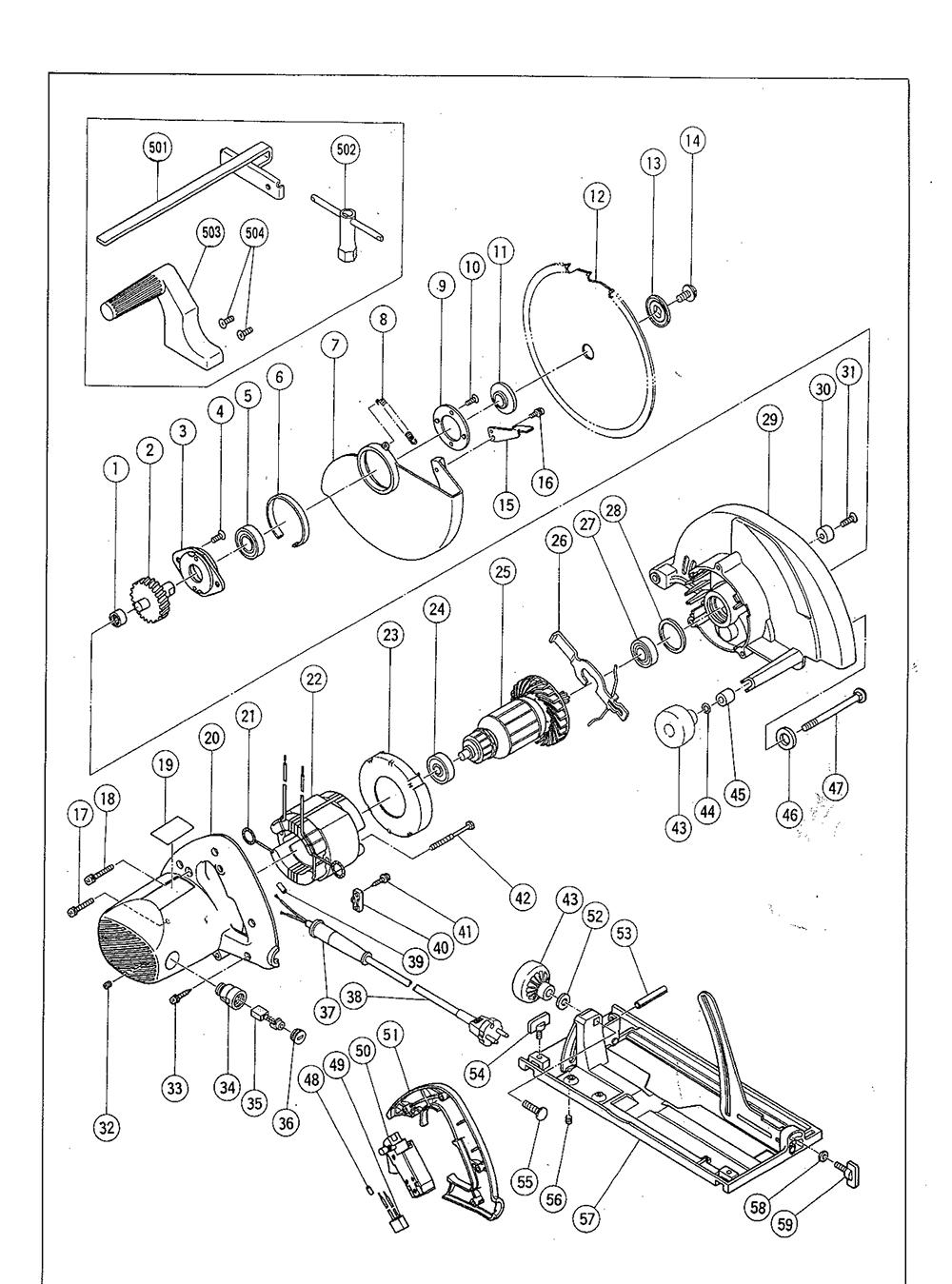 Hitachi C9 Parts Schematic