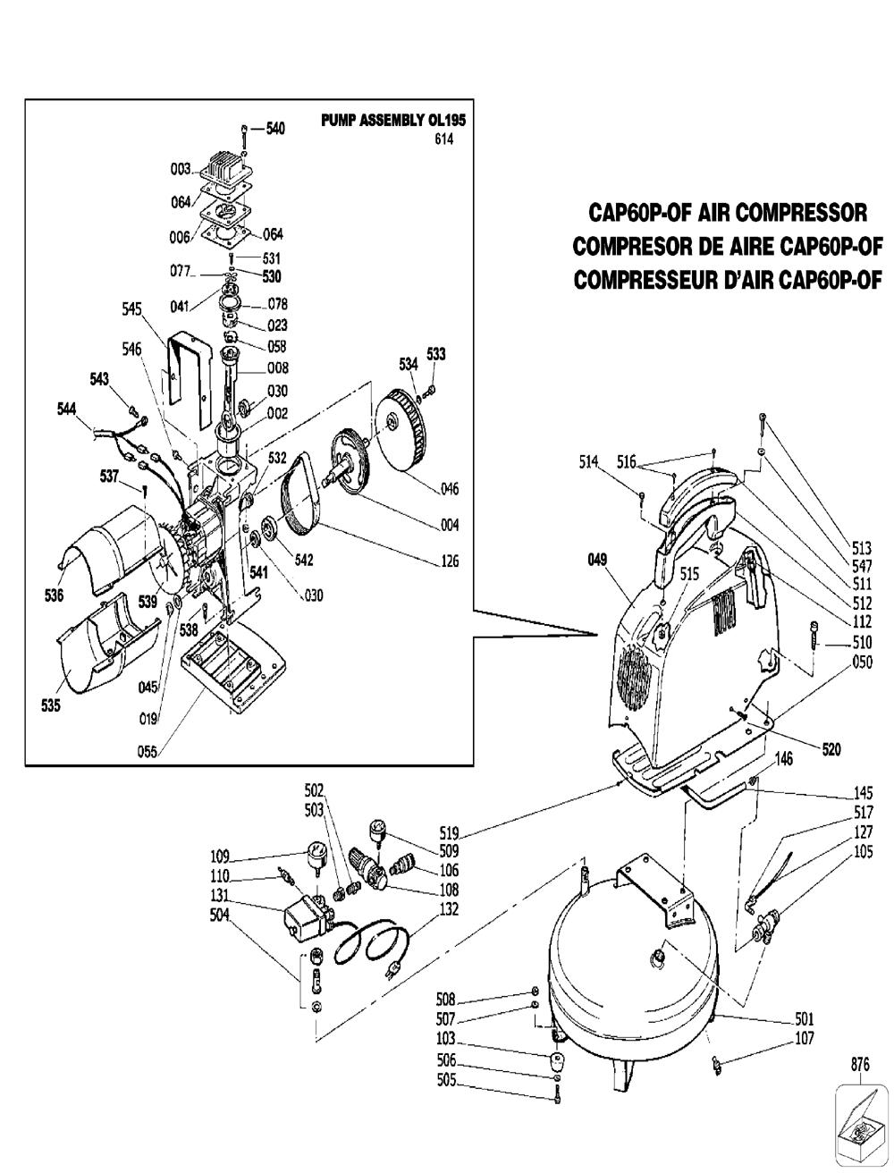 bostitch air compressor parts diagram  bostitch parts